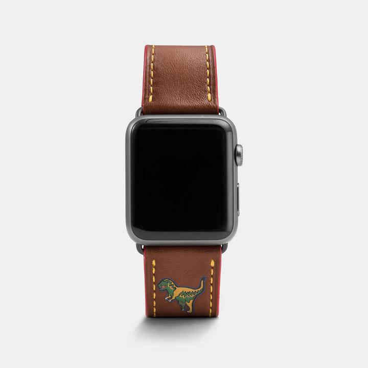 Coach  COACH Coach Apple Watch Rexy Leather Watch Strap