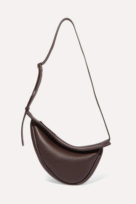 The Row Slouchy Banana Small Textured-leather Shoulder Bag - Brown