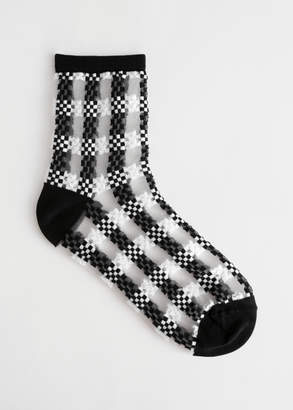 And other stories Sheer Checkered Ankle Socks