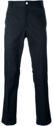 Thom Browne Unconstructed Chino In Navy High Density Cotton