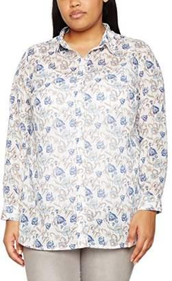 Ulla Popken Women's Hemdbluse Mit Blümchenprint Shirt,16