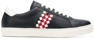 Bottega Veneta checked low-top sneakers