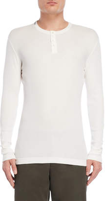 Dolce & Gabbana White Ribbed Henley