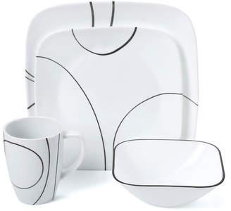 Corelle Simple Lines 16 Piece Dinnerware Set, Service for 4