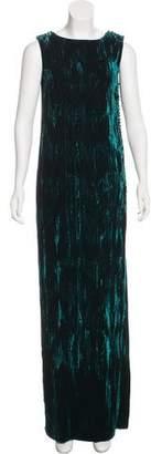 Oscar de la Renta Velvet Evening Dress