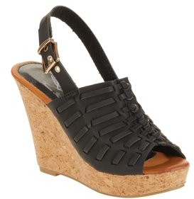 Forever Young Women's Faux Leather Braided Wedges