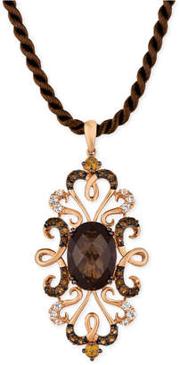 LeVian Le VianCrazy Collection Multi-Gemstone Silk Cord Pendant Necklace (6-1/4 ct. t.w.) in 14k Rose Gold
