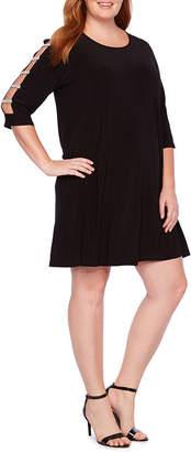 Tiana B 3/4 Sleeve Embellished Sheath Dress - Plus