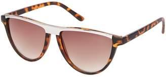 Topshop Slash Flat Brow Cateye Sunglasses