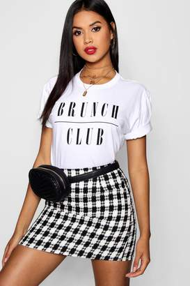 boohoo Riley Brunch Club Slogan Tee