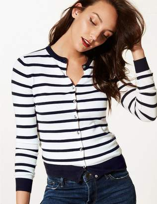 Marks and Spencer Striped Round Neck Cardigan