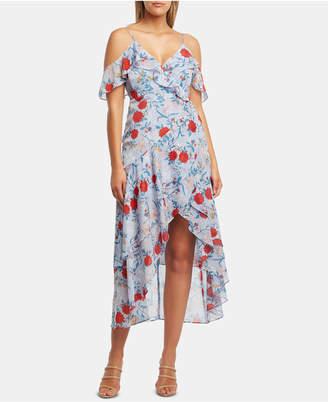 Bardot Cold-Shoulder High-Low Dress