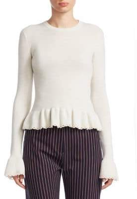 See by Chloe Knit Peplum Sweater