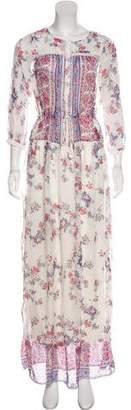 Twelfth Street By Cynthia Vincent Silk Floral Print Dress