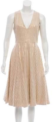 Alice + Olivia Metallic Sleeveless Dress