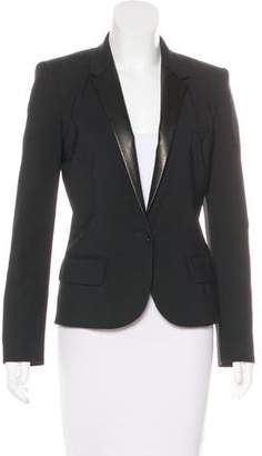 Barbara Bui Wool Leather-Trimmed Blazer