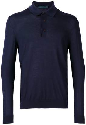 Kiton longsleeved plain polo shirt