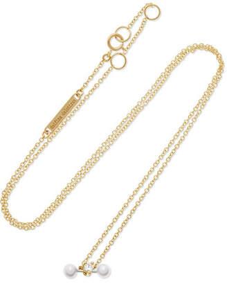 Delfina Delettrez 18-karat Yellow And White Gold Diamond Necklace