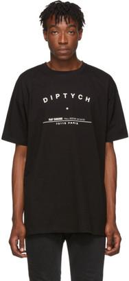 Raf Simons Black Big-Fit Diptych T-Shirt