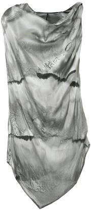 Masnada abstract print tunic top