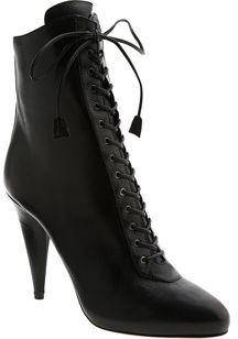Prada Platform Lace-up Bootie- Black