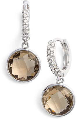 Judith Jack Swarovski Crystal Accented Stone Drop Earrings $98 thestylecure.com