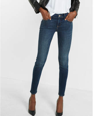 Express mid rise performance stretch skinny jeans $79.90 thestylecure.com