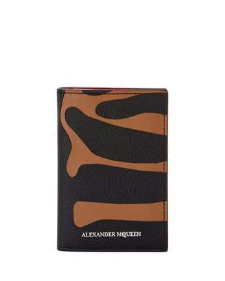 Alexander McQueen Men's Animal-Print Leather Pocket Organizer Wallet