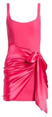 Cinq à Sept Waverly Satin Overlay Bodycon Dress