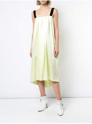 ADAM by Adam Lippes Silk Charmeuse Midi Dress With Velvet Straps