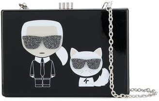 Karl Lagerfeld and Choupette box bag
