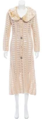 Tracy Reese Crocheted Longline Cardigan