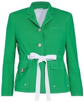 Thom Browne Tie-Front Wool Jacket