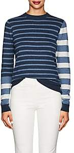 Derek Lam 10 Crosby Women's Striped Cotton-Cashmere Sweater-Blue
