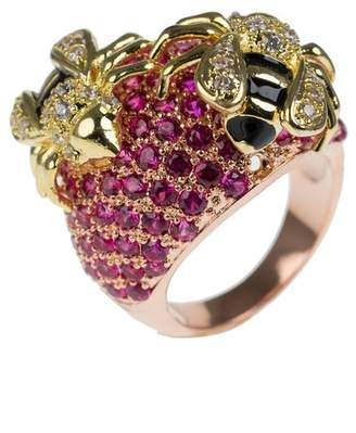 Kenneth Jay Lane CZ By CZ Accented Bee Ring