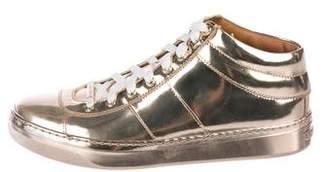 Jimmy Choo Metallic High-Top Sneakers
