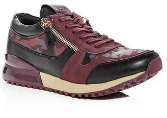 SNKR Project Men's Rodeo Camo Color-Block Lace Up Sneakers