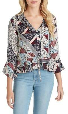 Jessica Simpson Bronwyn Button Up Blouse