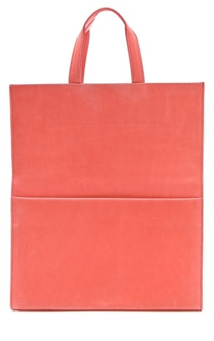 Maison Martin Margiela Leather Fold Over Tote