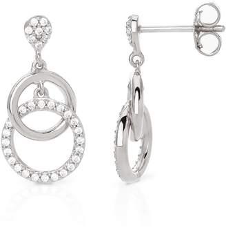 73b0b8fd8 John Greed Eos Silver Double Circle Drop Earrings