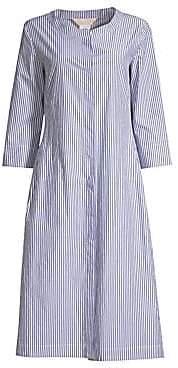 Max Mara Women's Flada Collarless Stripe Dress