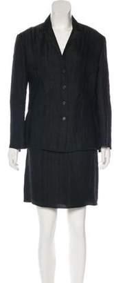 Genny Two-Piece Skirt Suit Set Black Two-Piece Skirt Suit Set
