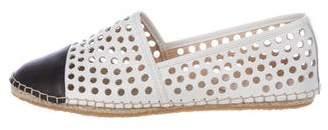 Loeffler Randall Leather Eyelet Loafers