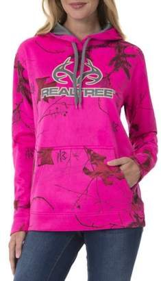 Realtree Women's Warm Hunting Fleece Pull Over Hoodie Sweatshirt