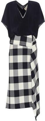 Roland Mouret Kenna check stretch cotton dress