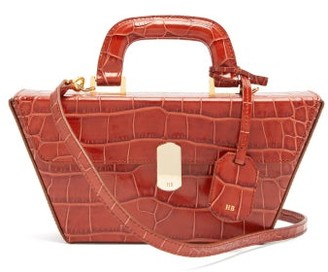 Hillier Bartley Cassette Crocodile Effect Leather Bag - Womens - Orange