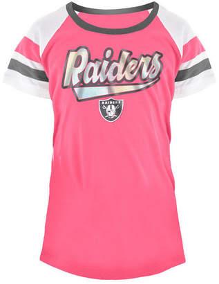5th & Ocean Oakland Raiders Pink Foil T-Shirt, Girls (4-16)