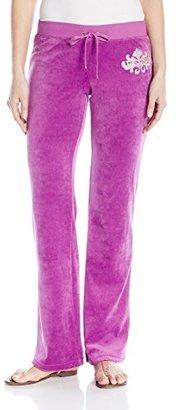 Juicy Couture Black Label Women's Logo Vlr Flourished Crest Bootcut Pant $76.45 thestylecure.com