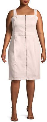 Bold Elements Zipper Front Dress - Plus