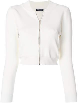 Twin-Set cropped zipped sweatshirt